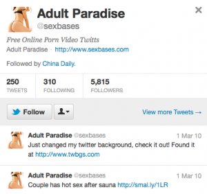 Who's China Daily Following? Free Online Porn Video Edition