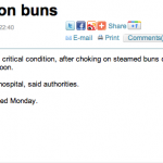 Girl chokes on buns - Global Times