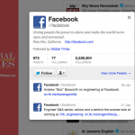 Global Times follows @facebook