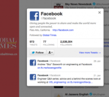 Who Is Global Times Following? Facebook
