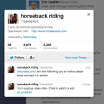 Who Is China Daily Following? Horseback Riding Edition