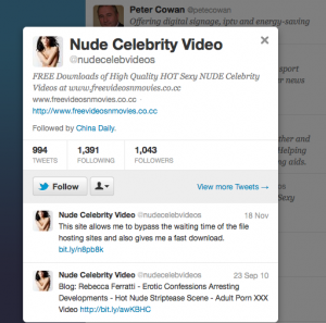 China Daily follows @nudecelebvideos