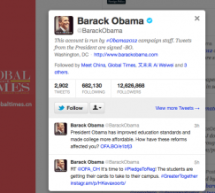 Who Is Global Times Following? Barack Obama