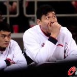 Su Wei yawning