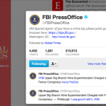 Global Times follows @FBIPressOffice