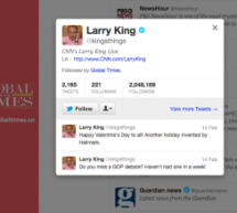 Who Is Global Times Following? Larry King