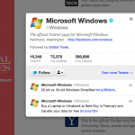 Global Times follows @Microsoft