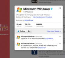 Who Is Global Times Following? Microsoft Windows