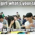 Asian math and pickup lines meme