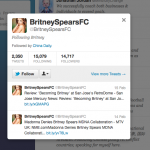 Who Is China Daily Following? Unverified Britney Spears Edition
