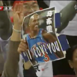 Fans cheer Marbury after Beijing's Game 5 win vs. Guangdong