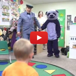 Purple Panda Scares Bejesus Out Of Children