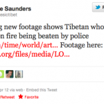 Tibetan monk sets himself on fire