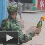 70-Year-Old Badass In Kunming Fends Off Demolishers With Molotov Cocktails