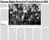 The PRC&#8217;s &#8220;Human Rights Record Of The United States In 2011 Explained