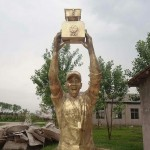 Stephon Marbury gold statue