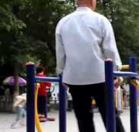 Be Mesmerized By This Old Man On Exercise Equipment