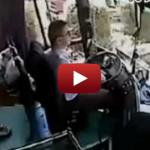 Bus Driver Hit With Unidentified Debris, Continues Doing Job [Warning: Graphic Footage]