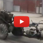 Jerry-Rigged Tractor Thingymajig Rolls To Its Own Beat