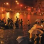 Watch: Firefighters And Civilian Rescuers Attempt To Pull Out Submerged Vehicles At Guangqumen