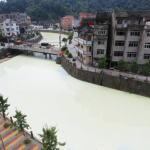 Wenzhou River Runs Milky White After Latex Factory Leak