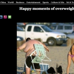 Xinhua's take on overweight people