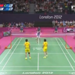 Badminton unsportsmanlike play