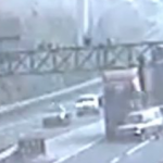 Driver Tries To Cut In Front Of Truck On Highway, Fails Utterly