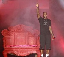 LeBron James In Beijing, Featuring A Red Throne And Two-Handed Reverse Dunk
