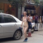 White Woman Walks Naked Through Downtown Kunming