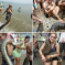 Just A Woman With Her Python At A Public Beach