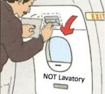 Chinese Man On Flight Confuses Emergency Exit For Lavatory Door