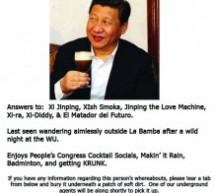 Have You Seen Xi Jinping?