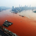 The River Runs Red: Yangtze River In Chongqing Mysteriously Discolored