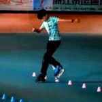 Your World Freestyle Skating Junior Classic Champion, Zhang Hao