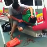 The Most Disturbing And Bloody Subway Fight You'll See, With Biting [Graphic]
