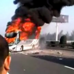 New Video From Monday's Bus Crash Outside Beijing Shows Helpless Bystanders Screaming In Front Of Fiery Vehicle