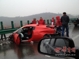 Road-Racing Ferraris In Shaanxi Get Completely, Utterly Totaled