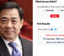 Should Bo Xilai Be Times Person Of The Year? (More Than 90 Percent So Far Say No)