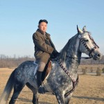 Kim Jong Un on a horse