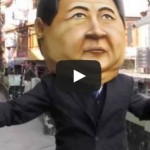 Activists Put On Oversized Xi Jinping Head And Dance For Tibetan Independence