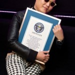PSY with Gangnam certificate