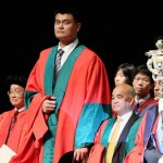 Yao Ming getting diploma... or being ordained