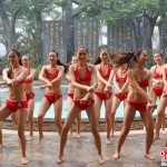 Bikinied ladies to Gangnam