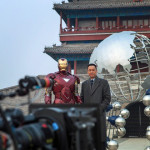 On Set With Iron Man And Wang Xueqi In Beijing