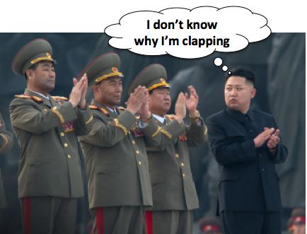 Kim Jong-un clapping