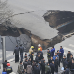 Taiyuan road collapse 1