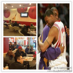 Tracy McGrady watches at McDonald's