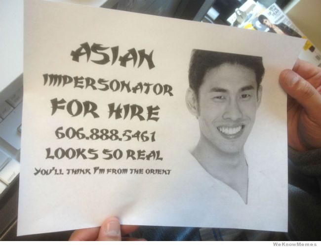 39 LEAD Asian impersonator