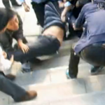 Anshan police beaten fight